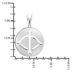 Women's Sagittarius Zodiac Pendant (18), White