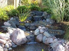 Pond  with Waterfall copyright: Back Yard Ponds Inc - This one could belong to a few boards but just looking around and listening to the sound of cascading water, it just belongs here...
