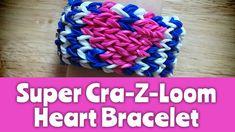 nice How to make a Super Cra-Z-Loom Heart Bracelet: Loom Tutorial