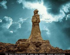 "A beautiful naturally fragmented statue named ""Princess of Hope"" along Makran Coastal Highway (Karachi to Gwadar), Baluchistan; Pakistan."