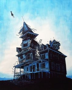 """Escape"" a watercolour silkcreen by Daniel Danger. See more of his provocative work here: http://www.tinymediaempire.com/#"
