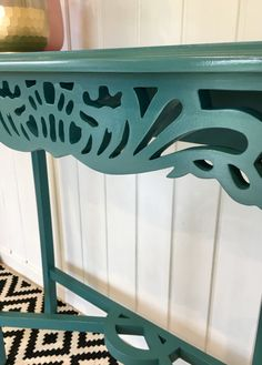 SOLD OUT Teal Occasional Console Table