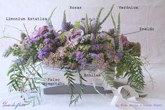 Guía de Flores {7}: Un centro de mesa en colores malva