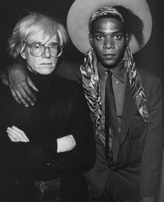 Andy Warhol and Jean Michel Basquiat.  A close, but somewhat strained relationship.