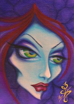"""Whatever will be... The art of allowing. """"Que Sera"""" by Natalie VonRaven - Acrylic on canvas 5x7  Lowbrow painting art pop surrealism"""