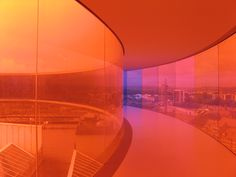 From inside of Your Rainbow Panorama, by Olafur Eliasson.