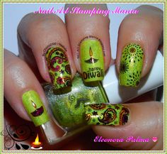 Nail Art Stamping Mania: Diwali Festival Manicure With Konad And VL Plates  http://nailartstampingmania.blogspot.it/2014/10/diwali-festival-manicure-with-konad-and.html