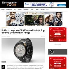 Nice article today about ORSTO analog Smartwatches by Greg Ellwood in Entertainment Focus.