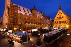 Christmas market in Rothenburg ob der Tauber, Germany