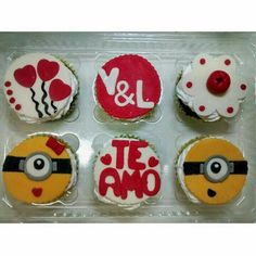 Cupcakes amor minions novios