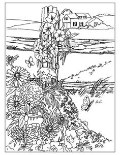 Landscape Coloring Page 16 Colorpagesforadults
