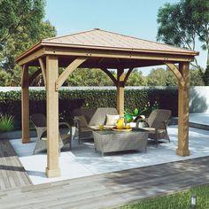 Cedar Wood 12' x 12' Gazebo with Aluminum Roof by Yardistry