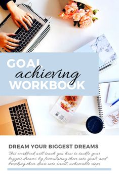 Dream your biggest dreams! This workbook will teach you how to tackle your biggest dreams by formulating them into goals and breaking them down into small, achievable steps. Dream Big, Dreaming Of You, Goals, Dreams, Teaching, Fitness, Free, Education, Onderwijs