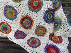 Bedcover: granny square circle blanket. via Etsy