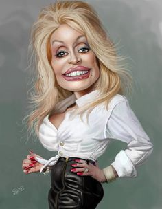 Contest Dolly Parton on Wittygraphy Funny Caricatures, Celebrity Caricatures, Celebrity Drawings, Cartoon Faces, Funny Faces, Cartoon Art, Caricature Artist, Caricature Drawing, Famous Cartoons