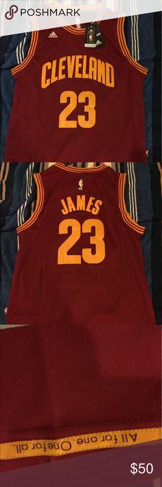 LeBron James #23 throwback swingman jersey 100% authentic brand new LeBron James #23 Cleveland Cavs throwback swingman jersey Adidas Shirts Tank Tops