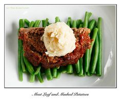Sirloin Meatloaf with Mashed Potatoes