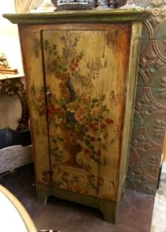 other for sale in Dallas, Texas French Country Furniture, Country French, Fun Art, Cool Art, Paint Storage, Vintage Floral, Painted Furniture, Mall, Buy And Sell