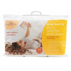 Fine Bedding Company Duck Feather and Down Pillow 100% cotton cover 85% duck feather and 15% duck down The pillow provides medium support An exceptional range that offers value and long lasting quality. Price: £20.00