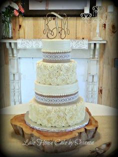Burlap wedding cake bling best site hairstyle and wedding dress pin by lake house cake by shannon on wedding cakes pinterest junglespirit Image collections