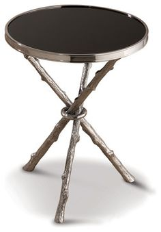 Bijou Global Bazaar Black Silver Twig Branch Accent Side End Table transitional-side-tables-and-accent-tables