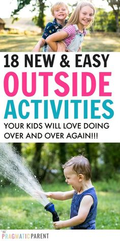 If the weather is warm, it's time to head outside! 18 easy outdoor activities for kids will keep them active, ignite imaginations & have fun in nature.#outdooractivities #kidsactivities #outdooractivitiesforkids #easyoutdooractivitiesforkids #funoutdooractivitiesforkids #simpleaoutdoorctivitiesforkids #kidsplayoutside Outside Activities For Kids, Outdoor Activities For Kids, Outdoor Learning, Infant Activities, Summer Activities, Preschool Activities, Motor Activities, Camping Survival, Bushcraft Camping