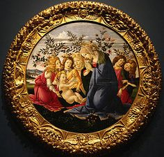 Sandro Botticelli, Madonna Adoring the Child with Five Angels, 1485-1490, Tempera on Panel, Baltimore Museum of Art