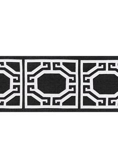 GATE APPLIQUE TAPE, Onyx, E12010, Collection Tapes & Trims: Volume 1 from Thibaut Neutral Palette, Fabric Online, Back To Black, Tape, Applique, Wallpaper, Neutral Style, Pattern, Collection