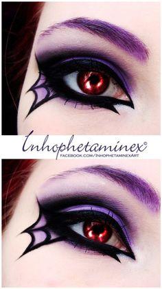 This spiderweb eye makeup screams Halloween! | Halloween Makeup ...