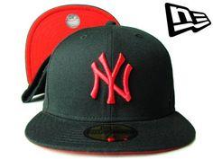 """【ニューエラ】【NEW ERA】59FIFTY カラーアンダーバイザー  NEW YORK YANKEES """"NY"""" ブラックXラディアントレッド【ニューヨーク・ヤンキース】【5950】【newera】【帽子】【NYC】【イチロー】【キャップ】【NY】【cap】【黒】【black】【赤】【red】【あす楽】【楽天市場】"""