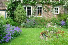 garden against house