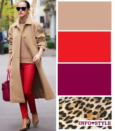Color combinations for clothes, colour combinations fashion, color comb Colour Combinations Fashion, Color Combinations For Clothes, Fashion Colours, Colorful Fashion, Color Combos, Fall Fashion Trends, Winter Fashion, Mode Outfits, Fashion Outfits