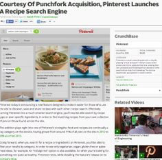 Courtesy Of Punchfork Acquisition, Pinterest Launches A Recipe Search Engine