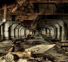 One of the areas of pipeworks that is rarely used anymore. It has fallen apart from years of abandonment.