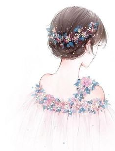 New anime art girl drawing 70 ideas Art Anime Fille, Anime Art Girl, Manga Art, Anime Girls, Art And Illustration, Sunflower Illustration, Pretty Art, Cute Art, Fashion Sketches