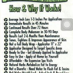 Why it works!! ULTIMATE BODY APPLICATOR-aka skinny wrap! https://healthymom.myitworks.com