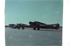 Above, Ju 52 and Ju 86 A from FFS B34, Kastrup, Copenhagen Airport. Part of a series of pictures taken by the German flying instructor Jo...