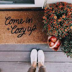 #autumn #winter #coldweather #doormat #cozy, #autumn #coldweather #Cozy #doormat #winter #wintergardeninteriorspaces