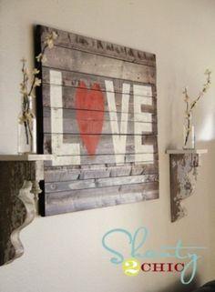 muur schilderij planken