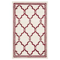 AMT414H Amherst Ivory and Red Area Rug