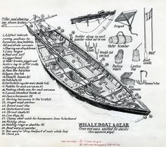 image: Drawing of Whaleboat and Gear