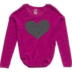 Gracie Heart U Sweater - Girls' Zinnia