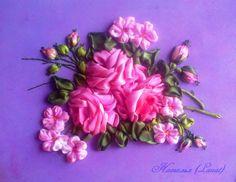 Gallery.ru / розы - Продолжаю учиться вышивать - lanat
