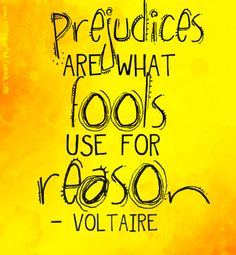 Voltaire Quote — Prejudices are what fools use for reason