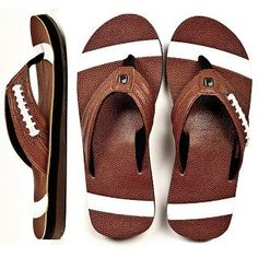 Authentic sandals for football fans Football Fan Shirts, Football Cheer, Fall Football, Football Love, Football Is Life, Football Fans, Football Season, Football Parties, College Football