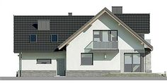 Unique Country House Plan With Four Bedrooms And Three Bathrooms - House And Decors Dream Home Design, Home Design Plans, Modern House Plans, Modern House Design, Modern Architectural Styles, Porch House Plans, Looking For Houses, French Country House Plans, Construction Design