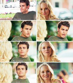"#TVD 7x01 ""Day One of Twenty-Two Thousand, Give or Take"" - Stefan and Caroline"