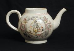 UNUSUAL ANTIQUE ENGLISH PEARLWARE POTTERY MASONIC TEAPOT JOHN AYNSLEY c.1800 | eBay