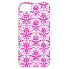 Pink Damask iPhone 5 Case Cover