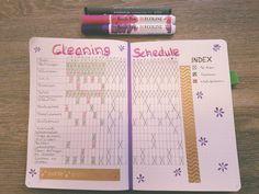 Cleaning schedule bullet journal #bulletjournal